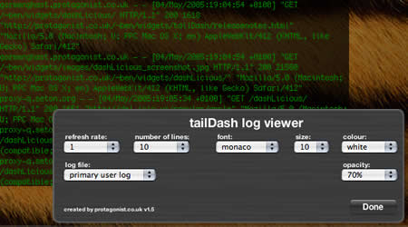 tailDash screenshot